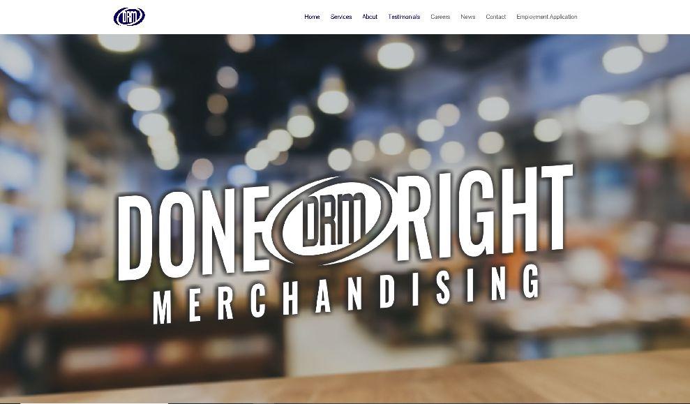 Done Right Merchandising Website
