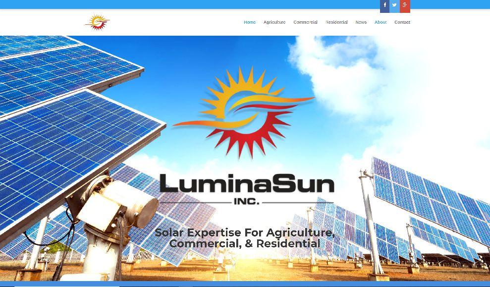 Lumina Sun Website